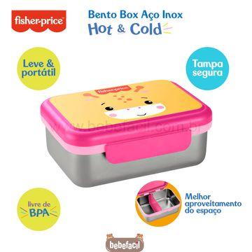 BB1093-C-Bento-Box-Aco-Inox-Hot---Cold-800ml-Rosa-Shock-6m---Fisher-Price