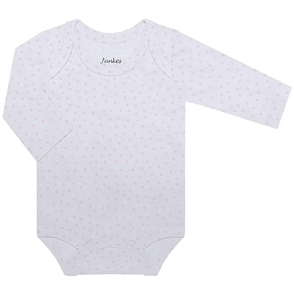JUN30107-PO-A-moda-bebe-menina-menino-body-longo-suedine-poa-junkes-baby-no-bebefacil-loja-de-roupas-enxoval-e-acessorios-para-bebes