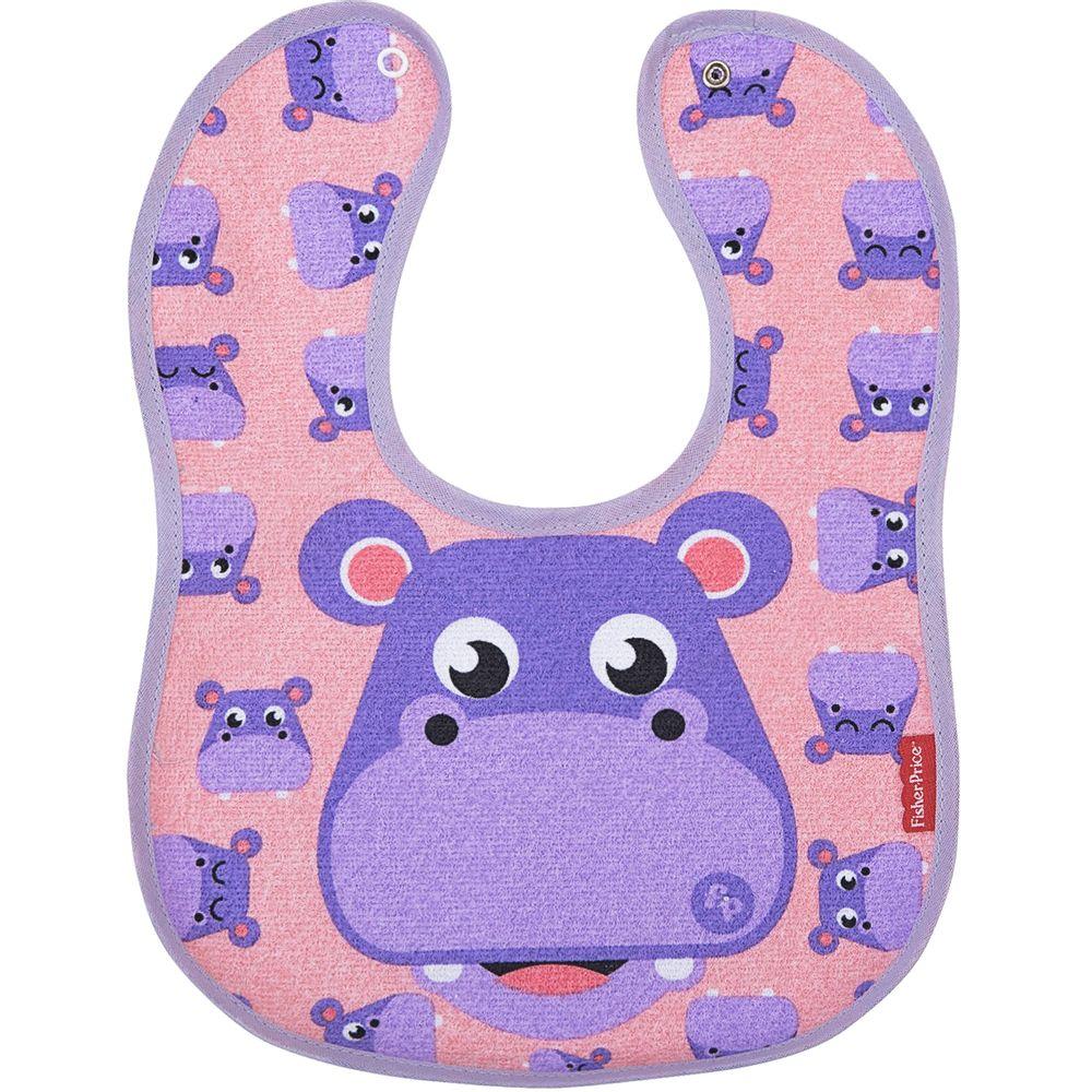 30040309010004-A-Babador-Anatomico-para-bebe-em-atoalhado-Hipopotamo---Fisher-Price