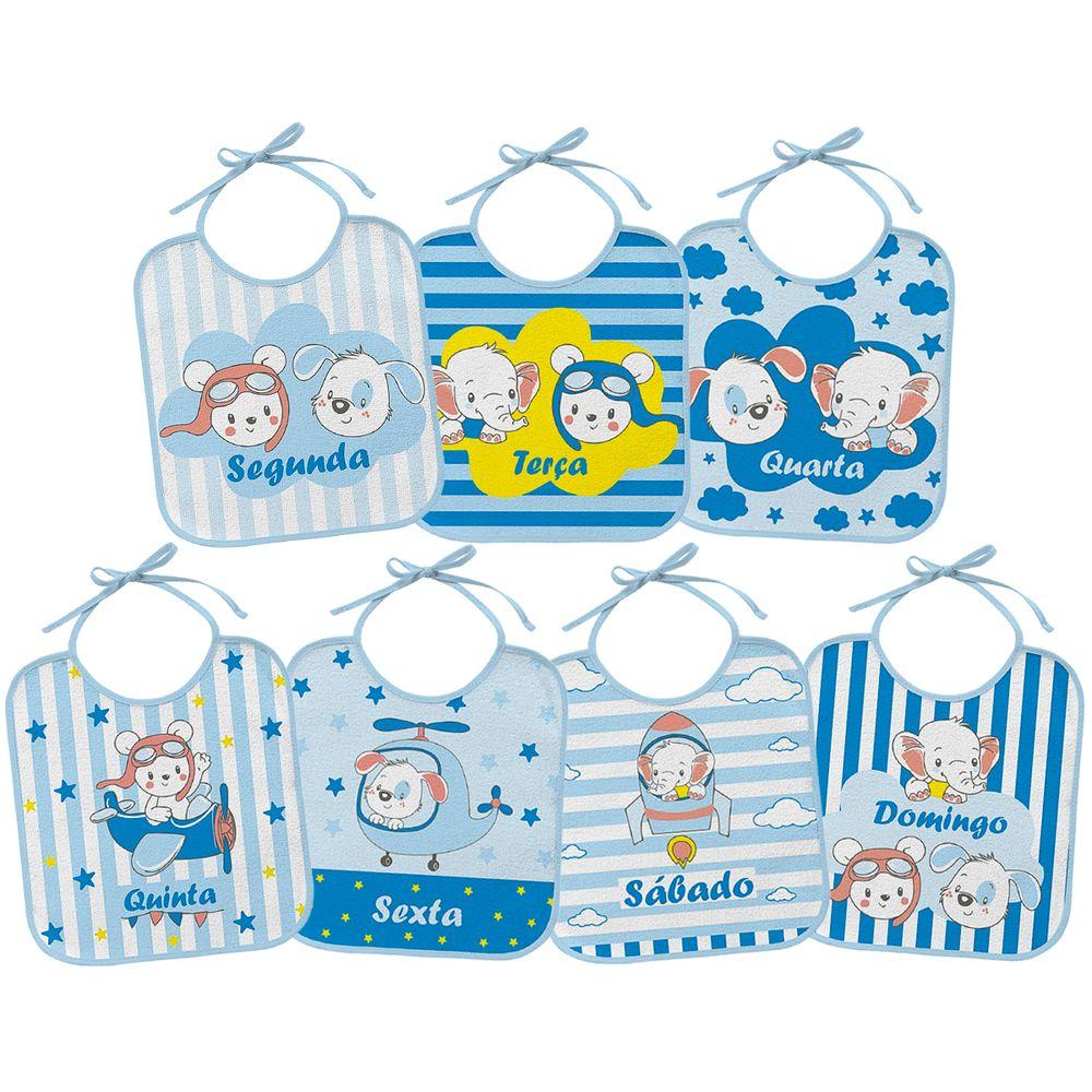 02000303010005-A-Kit-7-Babadores-para-bebe-em-atoalhado-Semaninha-Azul-Bambi---Incomfral