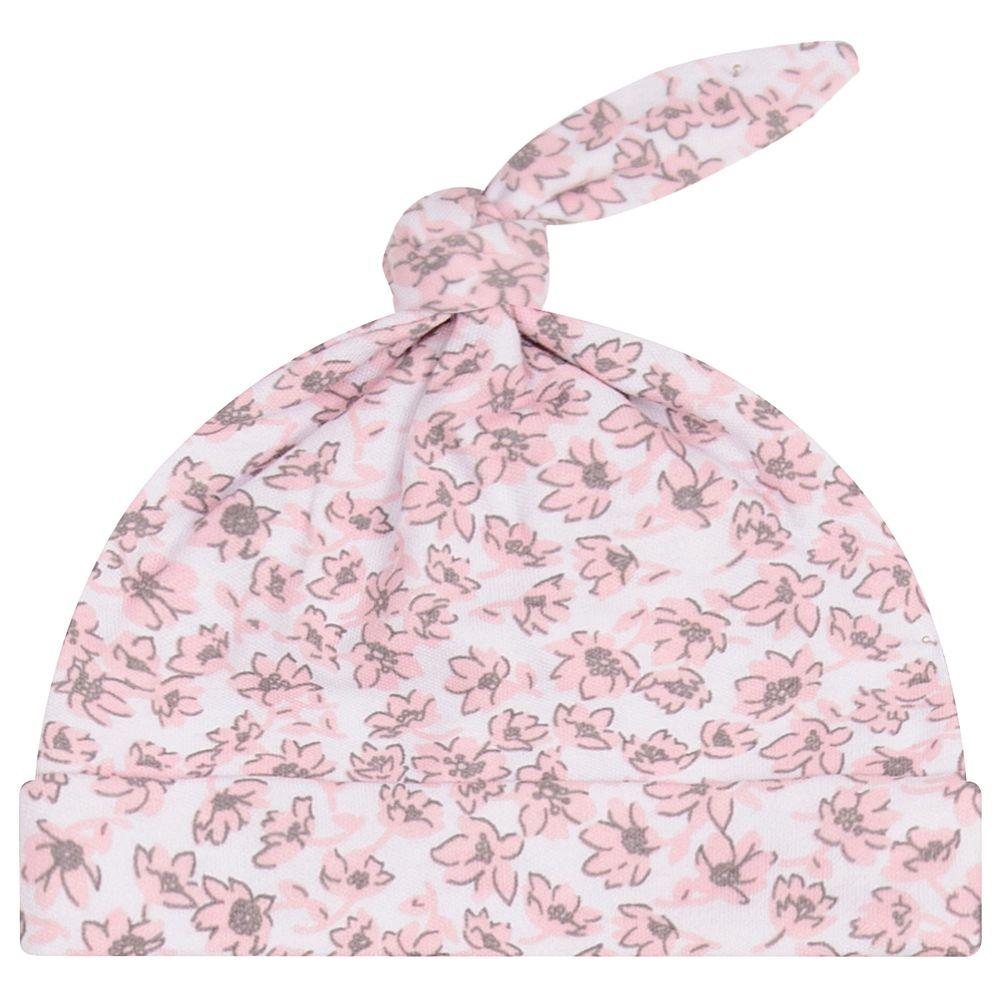 JUN40131-F-A-moda-bebe-menina-acessorios-touca-nozinho-floral-up-baby-no-bebefacil-loja-de-roupas-enxoval-e-acessorios-para-bebes