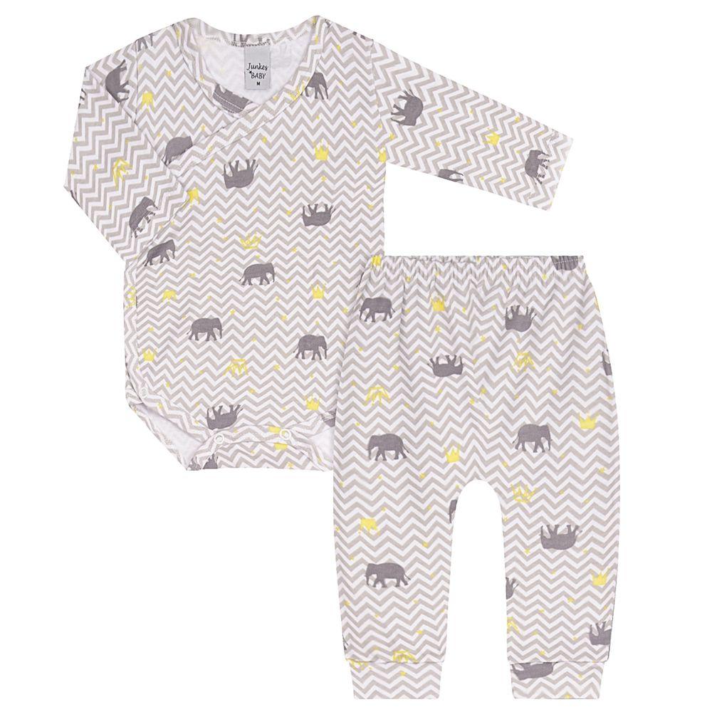 JUN41034-E-A-moda-bebe-menina-menino-conjunto-body-envelope-calca-em-suedine-elefantinho-junkes-baby-no-bebefacil-loja-de-roupas-enxoval-e-acessorios-para-bebes