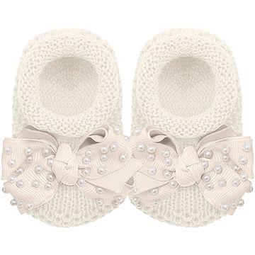 01429009031-A-moda-bebe-menina-sapatinho-tricot-laco-e-perolas-marfim-roana-no-bebefacil-loja-de-roupas-enxoval-e-acessorios-para-bebes