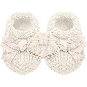 01429009031-B-moda-bebe-menina-sapatinho-tricot-laco-e-perolas-marfim-roana-no-bebefacil-loja-de-roupas-enxoval-e-acessorios-para-bebes