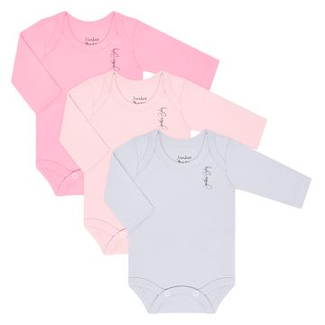 JUN20108-RRB-A-moda-bebe-menino-kit-3-bodies-longos-em-suedine-pink-rosa-branco-junkes-baby-no-bebefacil-loja-de-roupas-enxoval-e-acessorios-para-bebes