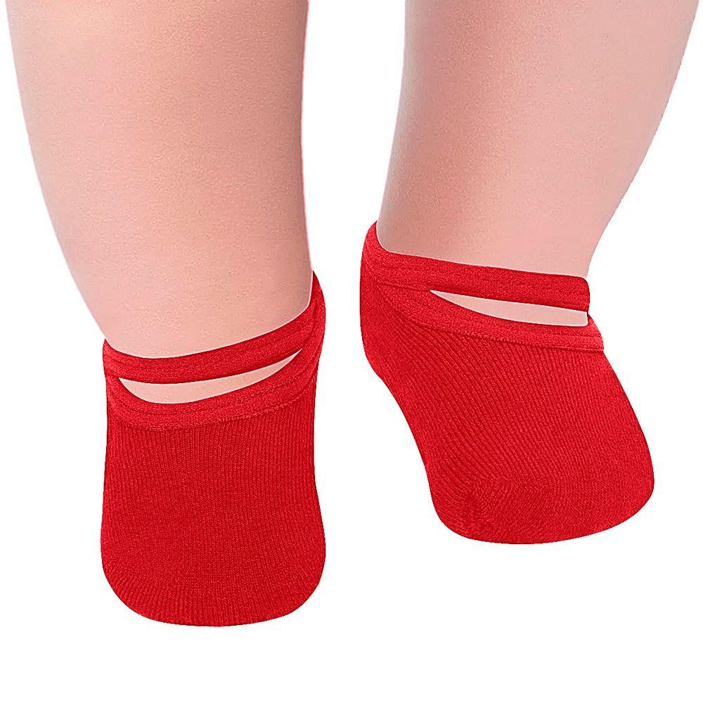 LU02011-011.5650-A-moda-bebe-menina-meia-sapatilha-vermelha-lupo-no-bebefacil-loja-de-roupas-enxoval-e-acessorios-para-bebes