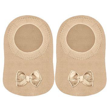 LU02007-002.6070-A-moda-bebe-menina-meia-sapatilha-bege-lupo-no-bebefacil-loja-de-roupas-enxoval-e-acessorios-para-bebes