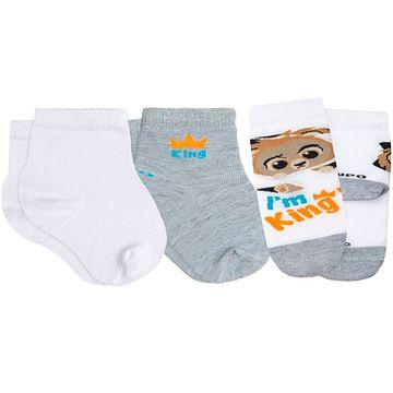 LU02000-989.0925-A-moda-bebe-menino-tripack-kit-3-meias-soquete-c-punho-soft-branca-mescla-leao-lupo-no-bebefacil-loja-de-roupas-enxoval-e-acessorios-para-bebes