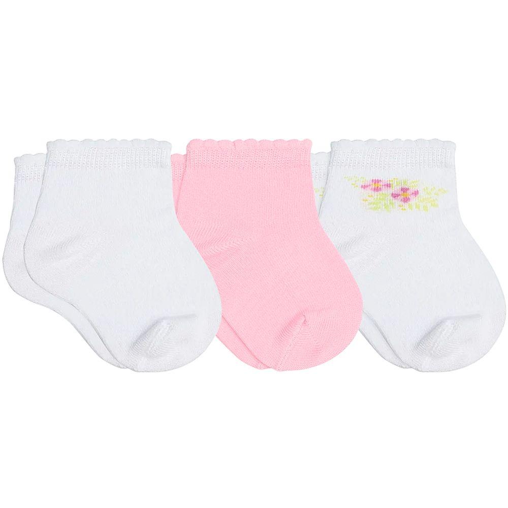 LU02000-989.0932-A-moda-bebe-menina-tripack-kit-3-meias-soquete-c-punho-soft-branco-rosa-floral-lupo-no-bebefacil-loja-de-roupas-enxoval-e-acessorios-para-bebes