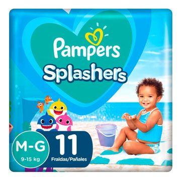 Fralda-Para-agua-Pampers-Splashers-Baby-Shark-M-G-11-Unidades-1