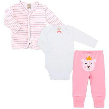 PL66667-A-moda-bebe-menina-conjunto-pagao-casaquinho-body-curto-calca-mijao-ursa-coracao-Pingo-Lele-no-bebefacil-loja-de-roupas-enxoval-e-acessorios