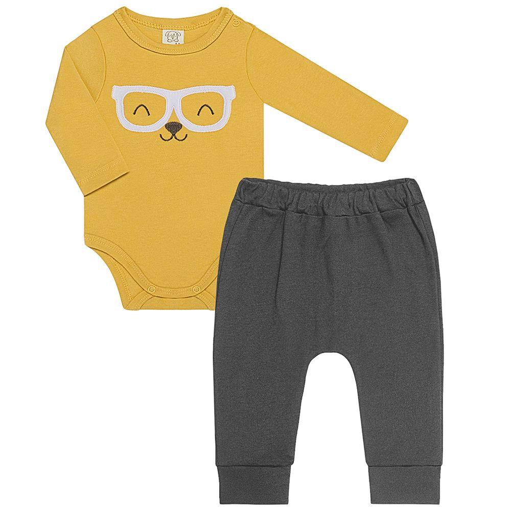 PL66695-A-moda-bebe-menino-body-longo-com-calca-em-suedine-coelho-pingo-lele-no-bebefacil-loja-de-roupas-enxoval-e-acessorios-para-bebes