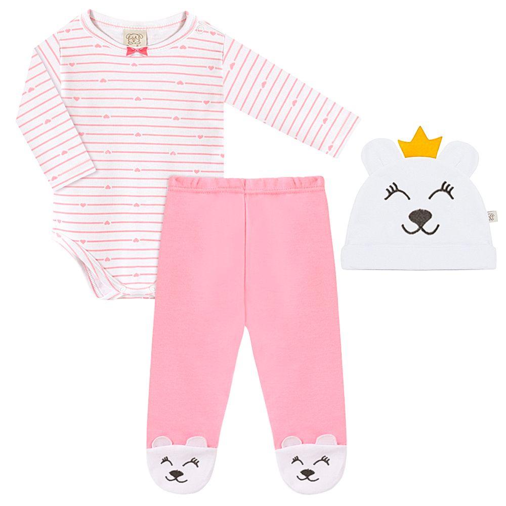 PL66672-A-moda-bebe-menina-conjunto-body-longo-calca-touca-ursa-coracoes-pingo-lele-no-bebefacil-loja-de-roupas-enxoval-e-acessorios-para-bebes