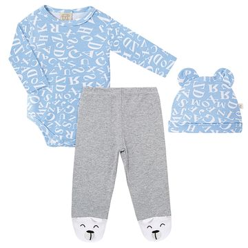 PL66719-A-moda-bebe-menino-conjunto-body-longo-calca-touca-urso-letras-pingo-lele-no-bebefacil-loja-de-roupas-enxoval-e-acessorios-para-bebes
