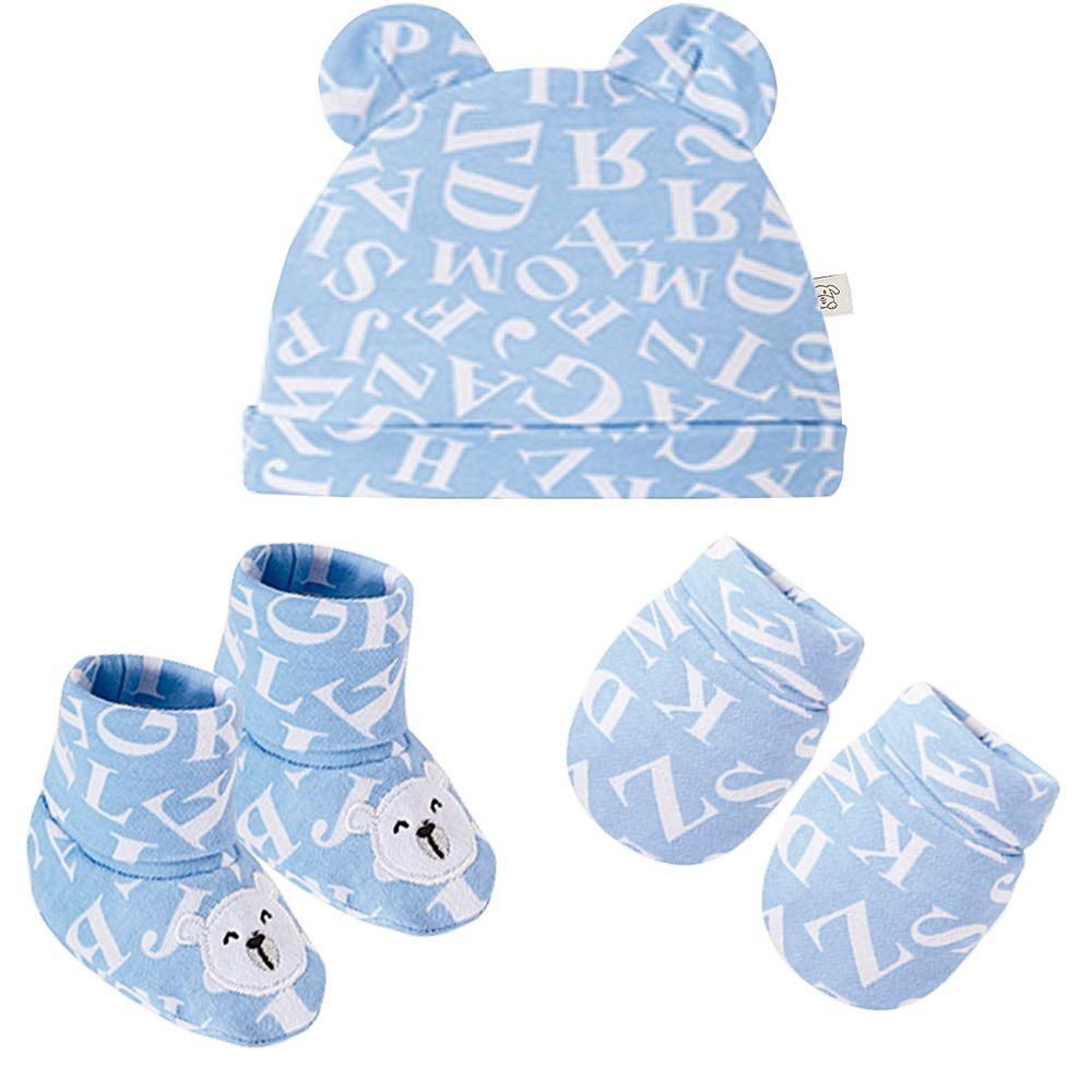 PL66724-A-moda-bebe-menino-acesssorios-kit-touca-luva-sapatinho-em-suedine-urso-letras-pingo-lele-no-bebefacil-loja-de-roupas-enxoval-para-bebes