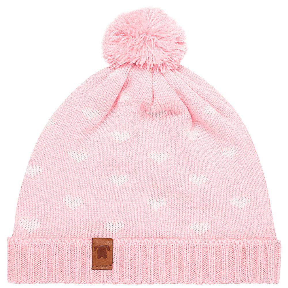PL66523.80-A-moda-bebe-menina-acessorios-touca-em-tricot-coracoes-rosa-pingo-lele-no-bebefacil-loja-de-roupas-enxoval-e-acessorios-para-bebes