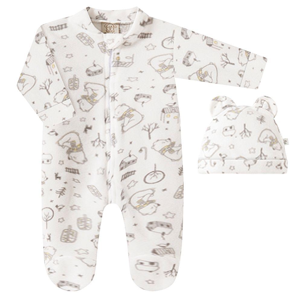 PL66735-A-moda-bebe-menina-menino-macacao-longo-com-touca-em-soft-off-white-ursinhos-pingo-lele-no-bebefacil-loja-de-roupas-enxoval-e-acessorios-para-bebes