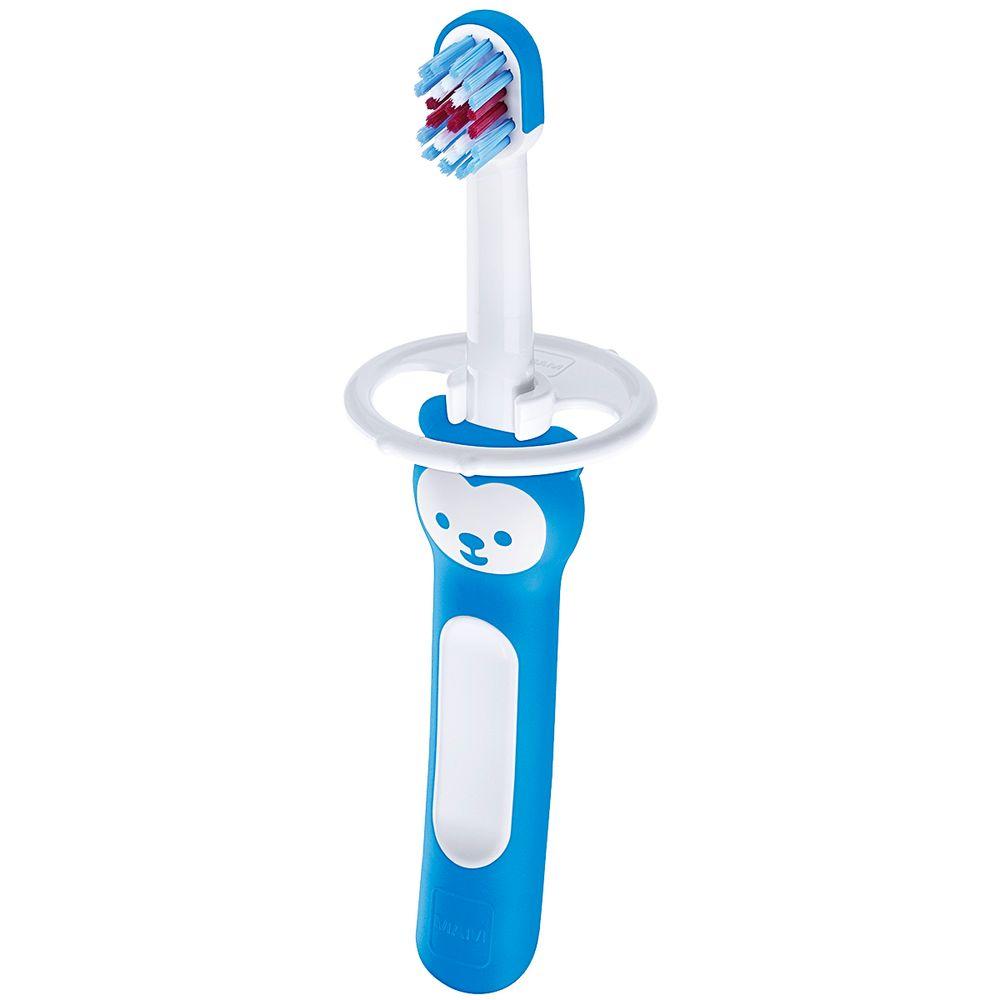 MAM8113-B-A-Escova-de-Dentes-Babys-Brush-Azul-6m---MAM