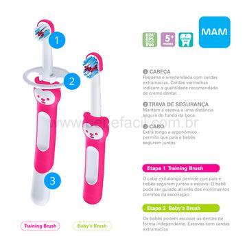 MAM8308-C-Escova-de-Dentes-Learn-to-Brush-2-Unidades-Rosa-5m---MAM