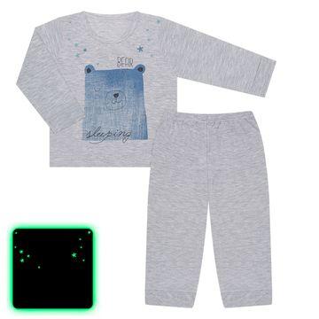 JUN61102-M-A1-moda-menino-pijama-calca-blusa-em-malha-bear--sleeping-mescla-junkes-baby-no-bebefacil-loja-de-roupas-para-bebes