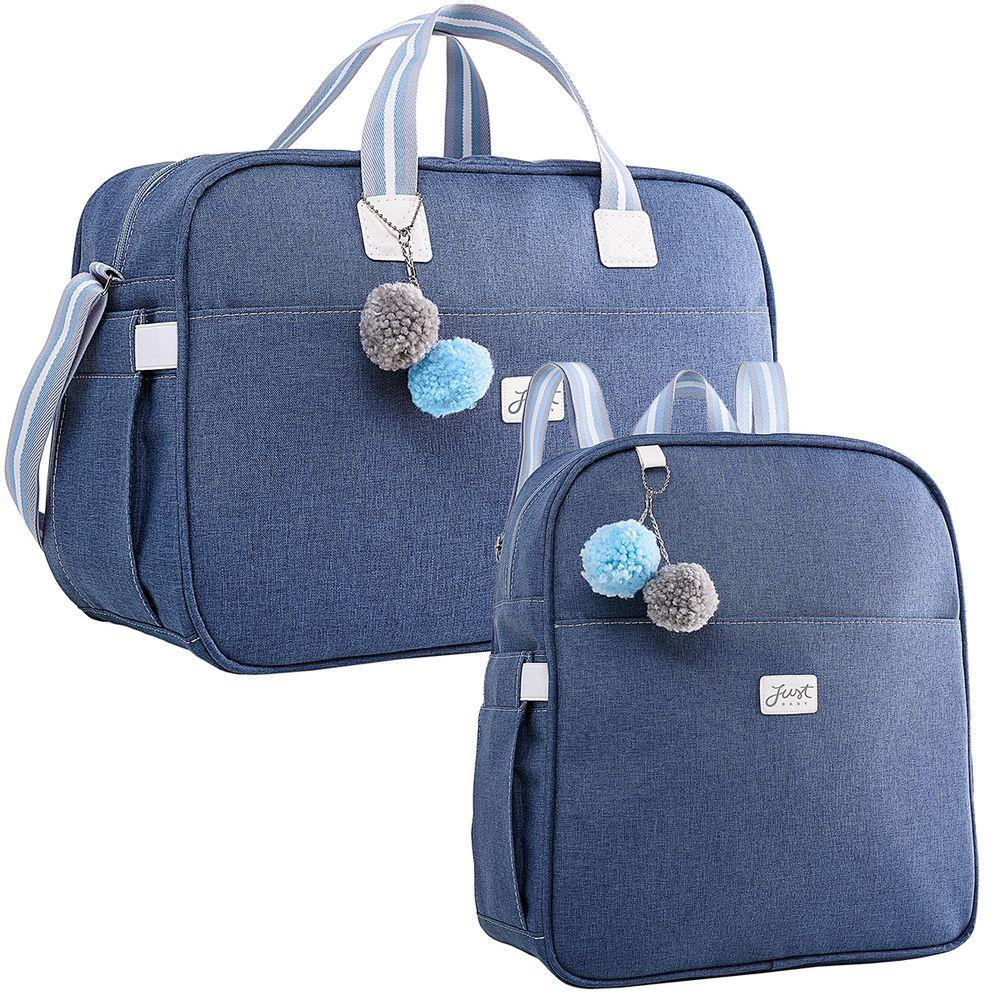 JBCLJ322-U1---JBCLJ325-U1-Bolsa-Maternidade-Mochila-Maternidade-Color-Azul---Just-Baby