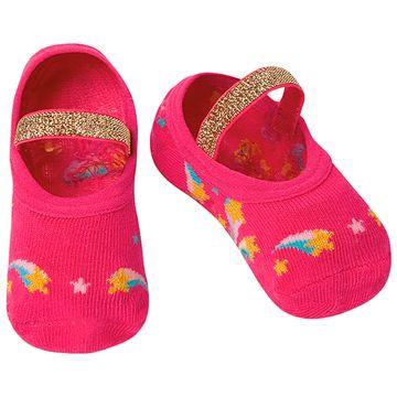 PK6926-RF-A-moda-bebe-menina-meia-sapatilha-boneca-rosa-puket-no-bebefacil-loja-de-roupas-enxoval-e-acessorios-para-bebes