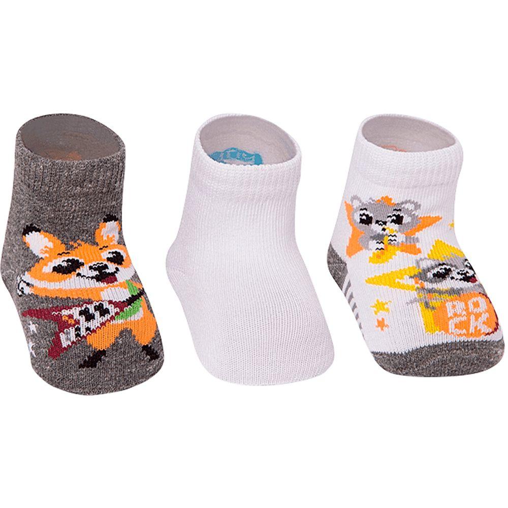 PK6963-RP-A-moda-bebe-menino-acessorios-tripack-kit-3-meias-raposinha-puket-no-bebefacil-loja-de-roupas-enxoval-e-acessorios-para-bebes