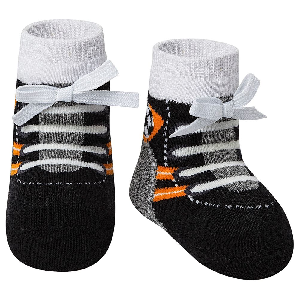 PK7036-PL-A-moda-bebe-menino-meia-tenis-preto-laranja-puket-no-bebefacil-loja-de-roupas-enxoval-e-acessorios-para-bebes