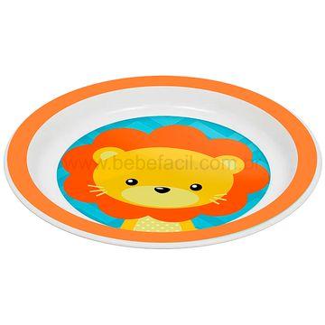 BUBA10734-C-Kit-Refeicao-para-bebe-Animal-Fun-Leaozinho-6m---Buba