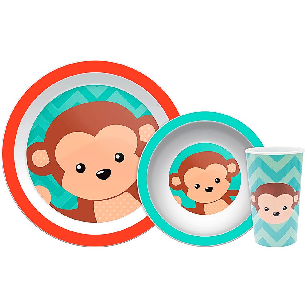 BUBA10735-A-Kit-Refeicao-para-bebe-Animal-Fun-Macaquinho-6m---Buba