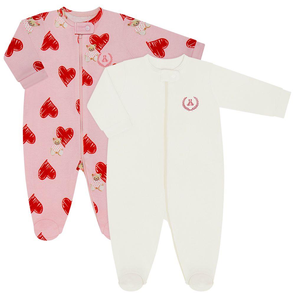 CQ21.088-153-A--moda-bebe-menina-pack-2-macacao-manga-longa-ziper-suedine-malha-ursinha-love-coquelicot-no-bebefacil-loja-de-roupas-enxoval-e-acessorios-para-bebes