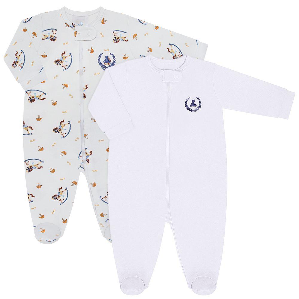 CQ21.088-158-A-moda-bebe-menino-pack-2-macacao-manga-longa-ziper-suedine-malha-cavalinho-de-pau-coquelicot-no-bebefacil-loja-de-roupas-enxoval-e-acessorios-para-bebes