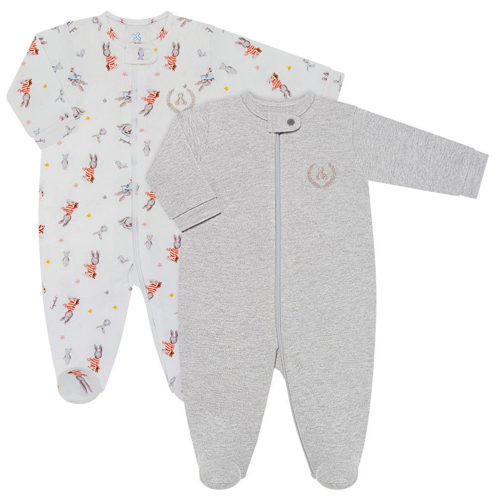 CQ21.088-160-A-moda-bebe-menino-pack-2-macacao-manga-longa-ziper-suedine-malha-coelhinho-coquelicot-no-bebefacil-loja-de-roupas-enxoval-e-acessorios-para-bebes