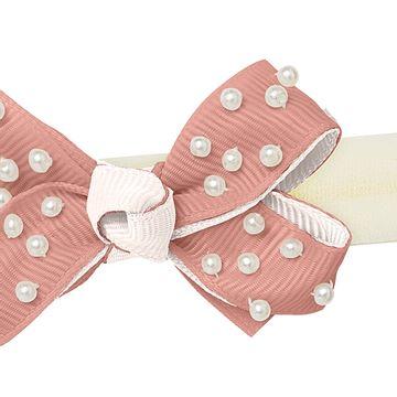 00549004365-B-moda-bebe-menina-acessorios--faixa-de-cabelo-laco-perolas-rose-marfim-roana-no-bebefacil-loja-de-roupas-enxoval-e-acessorios-para-bebes