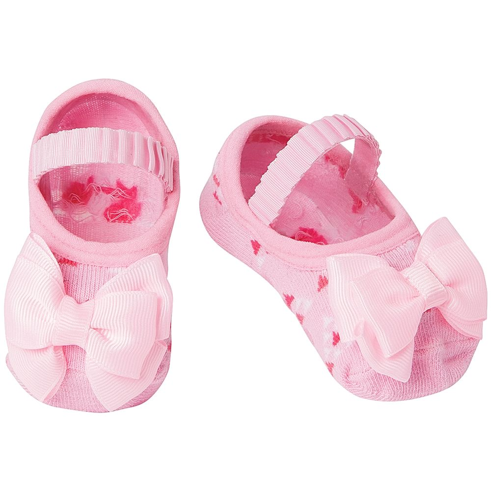 01010176042-A-moda-menina-meia-sapatilha-lacos-rosa-puket-no-bebefacil-loja-de-roupas-enxoval-e-acessorios-para-bebes