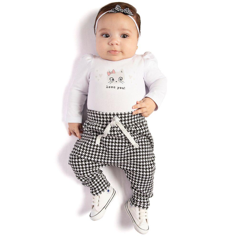 TMX0104-moda-bebe-menina-conjunto-body-longo-com-calca-pied-poule-tmx-no-bebefacil
