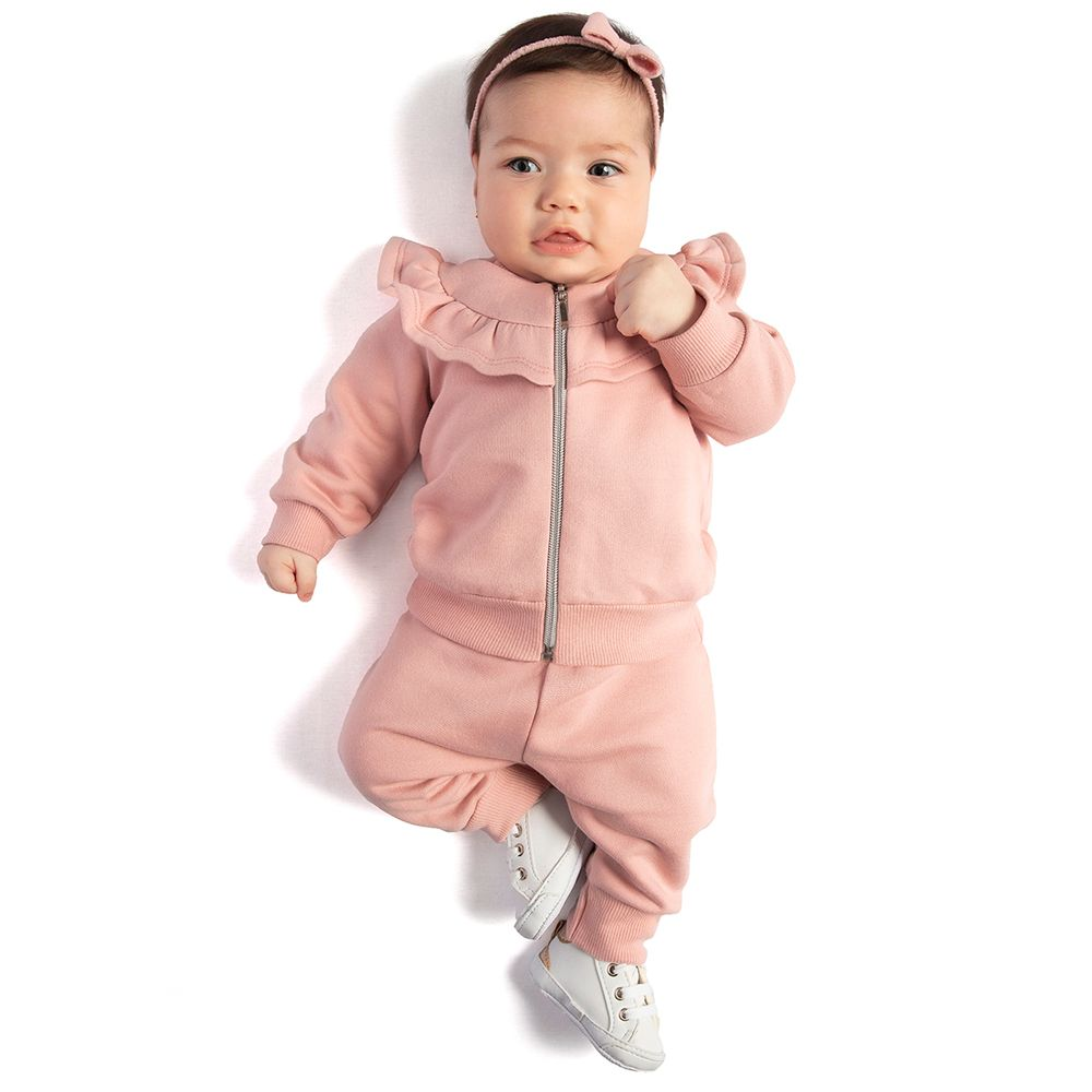 TMX0106-moda-bebe-menina-conjunto-casaco-babadinhos-com-calca-em-moletinho-rosa-cha-tmx-no-bebefacil