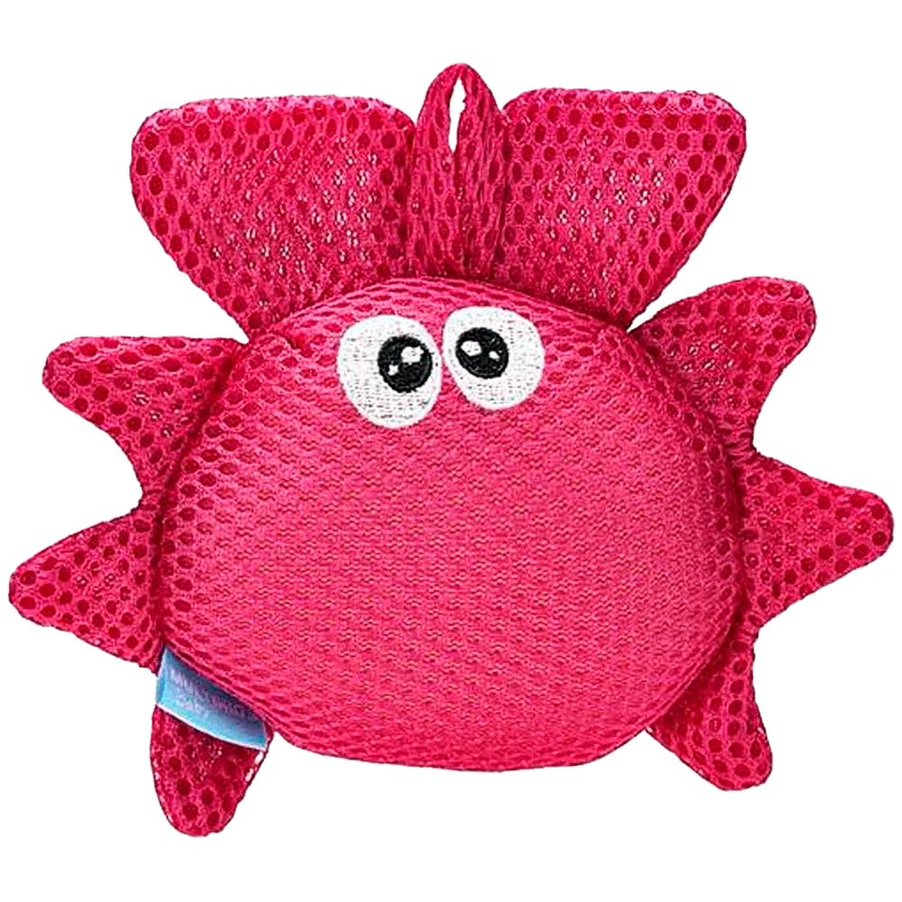 BB1118-A-Esponja-de-Banho-Bubbles-Caranguejo-Divertido-4m---Multikids-Baby