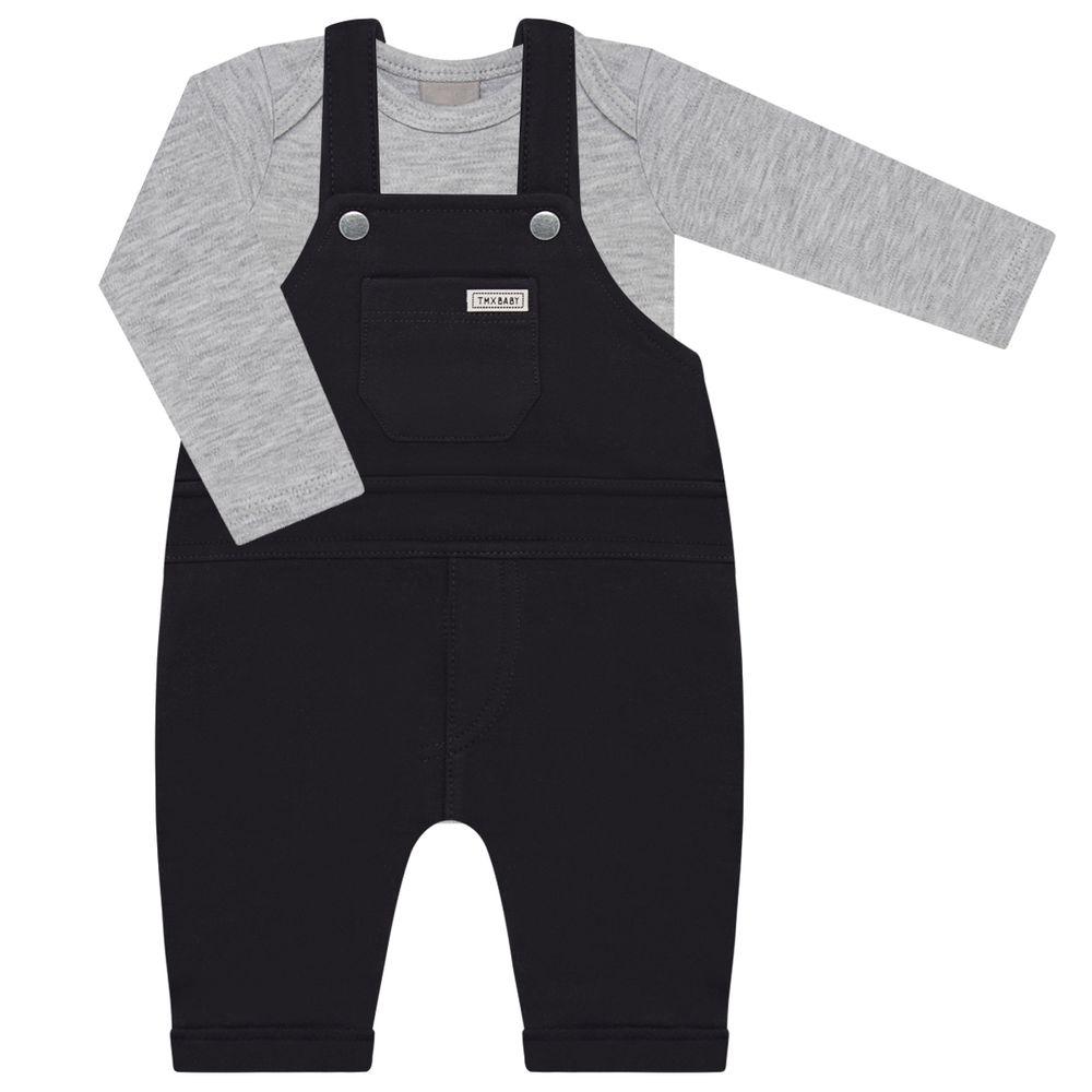 TMX4110-PM-A-moda-bebe-menino-jardineira-com-body-longo-preto-mescla-TMX-no-bebefacil