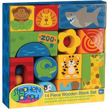 2525-A-Blocos-de-Madeira-Zoo-14-Pecas-18m---Stephen-Joseph