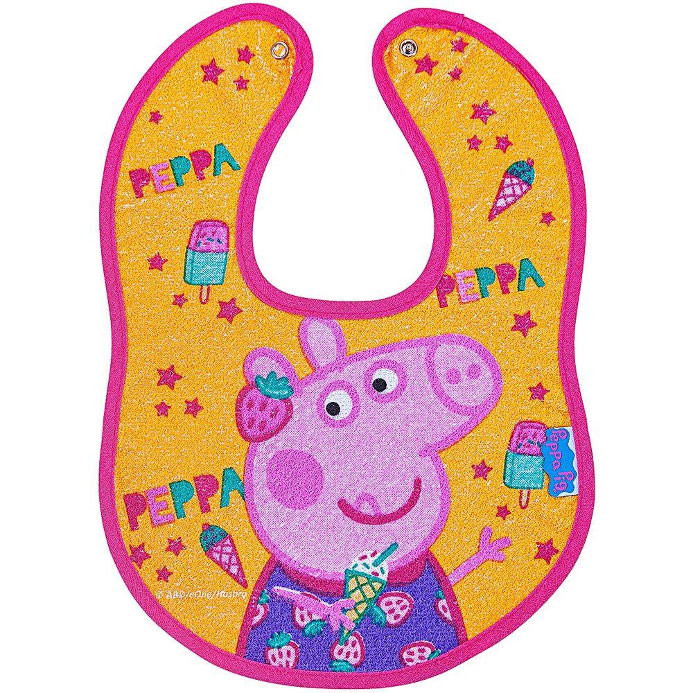 32000309010001-A-Babador-Anatomico-Impermeavel-para-bebe-em-atoalhado-Peppa-Pig---Incomfral