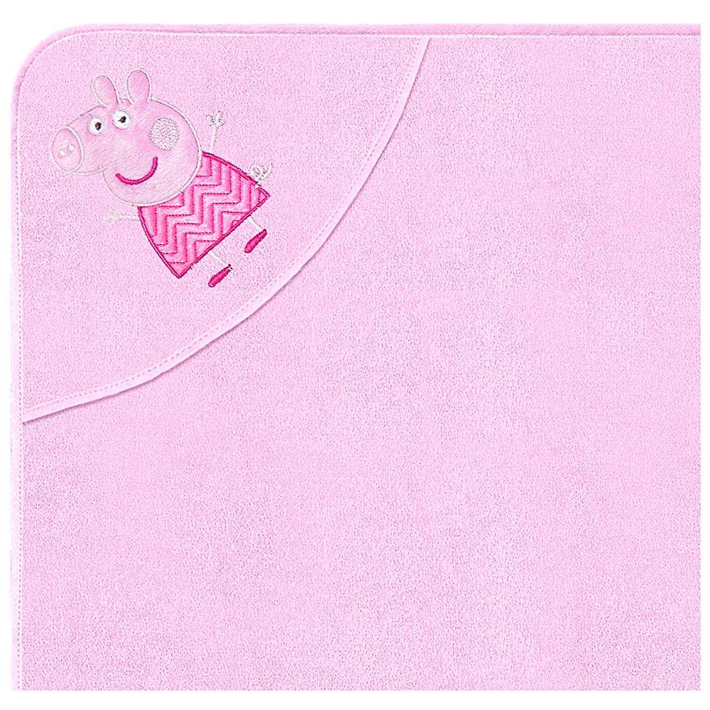 32003303010001-A-enxoval-bebe-menina-toalha-com-capuz-peppa-pig-incomfral-no-bebefacil
