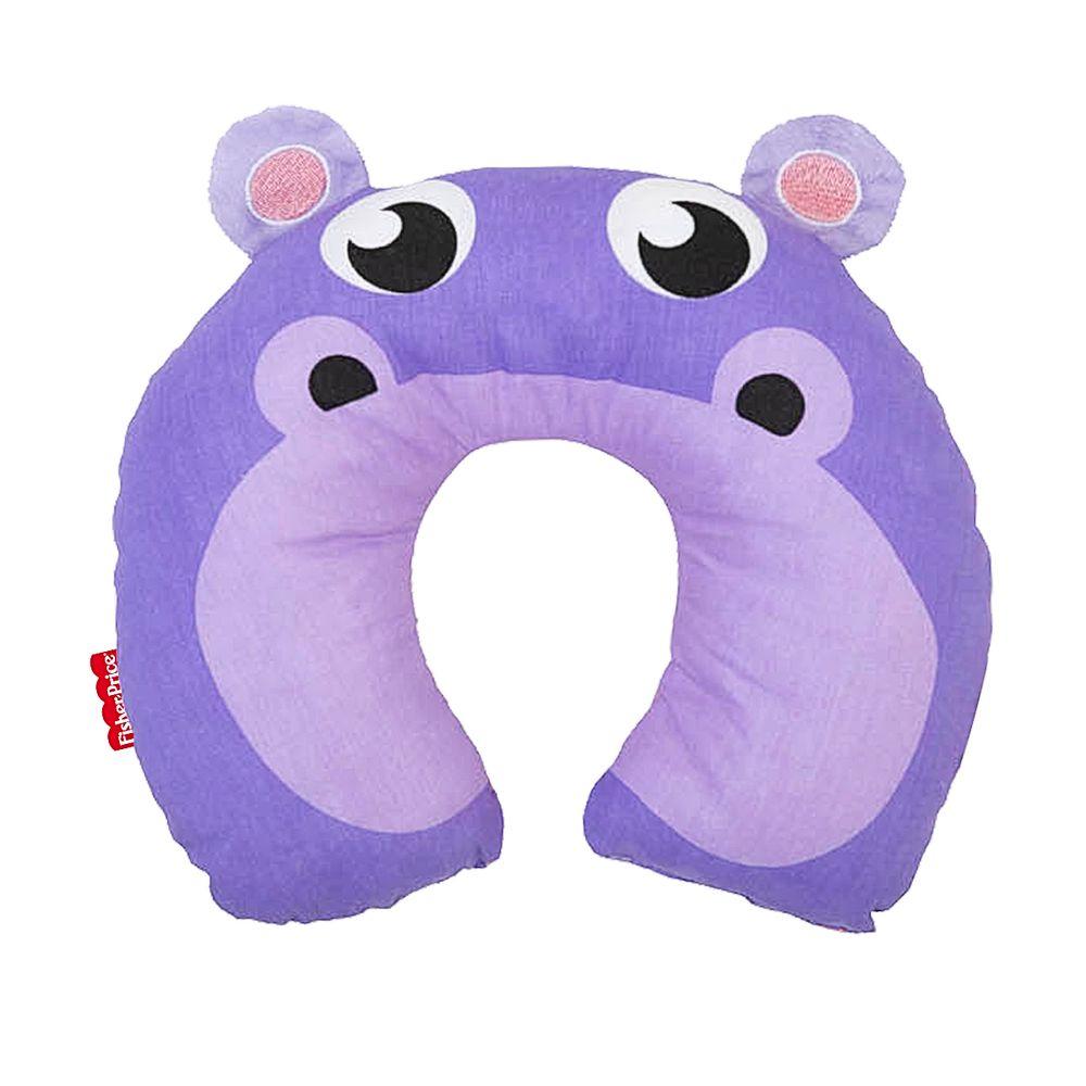 30040206010004-A-Protetor-de-pescoco-para-bebe-em-percal-Hipopotamo---Fisher-Price