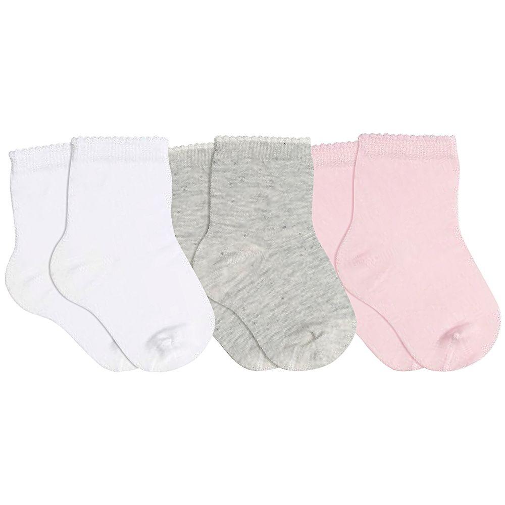 LU02000-989.0940-A-moda-bebe-menina-tripack-kit-3-meias-soquete-branco-mescla-rosa-lupo-no-bebefacil