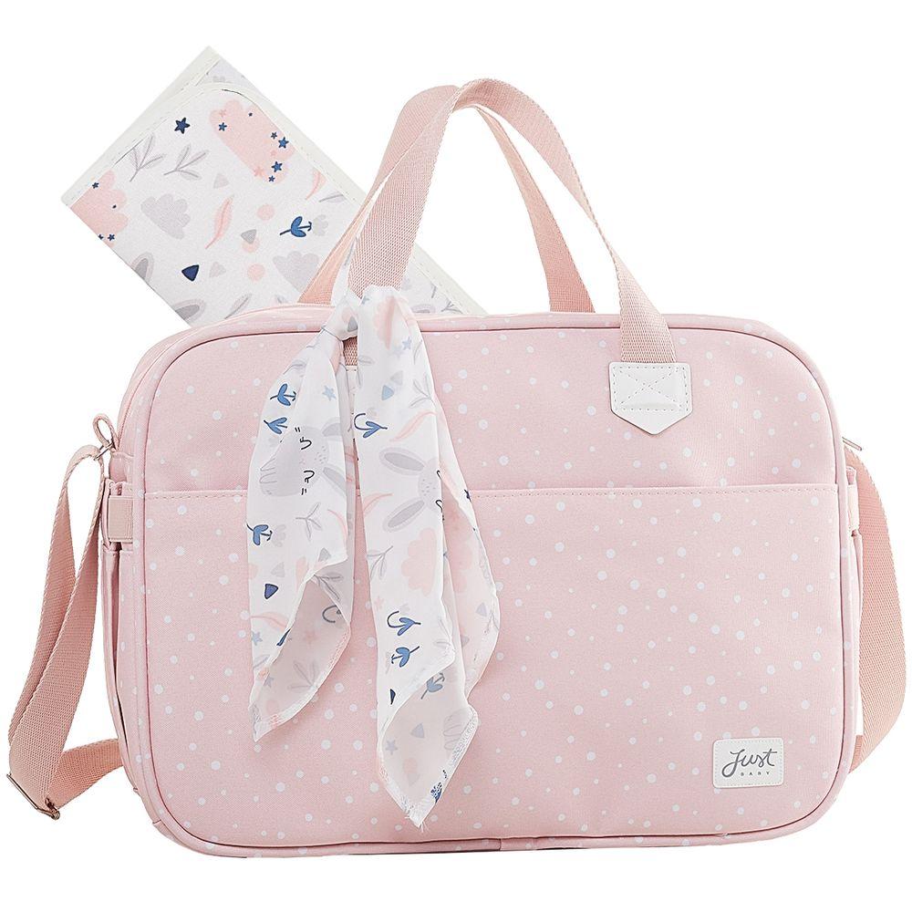 JBBNY322U2-A-Bolsa-Maternidade-para-bebe-Bunny-Rosa---Just-Baby