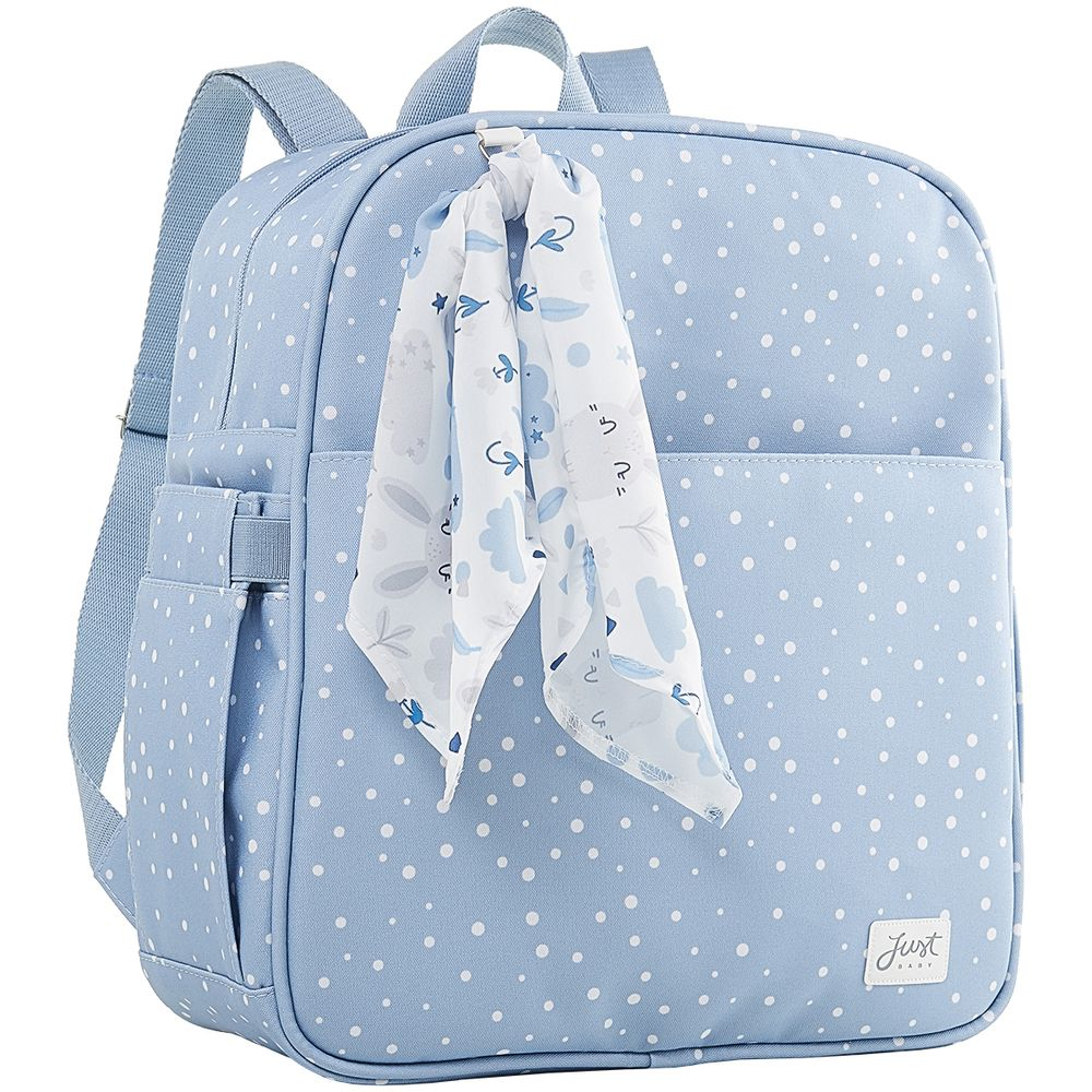 JBBNY325U1-A-Mochila-Maternidade-para-bebe-Bunny-Azul---Just-Baby
