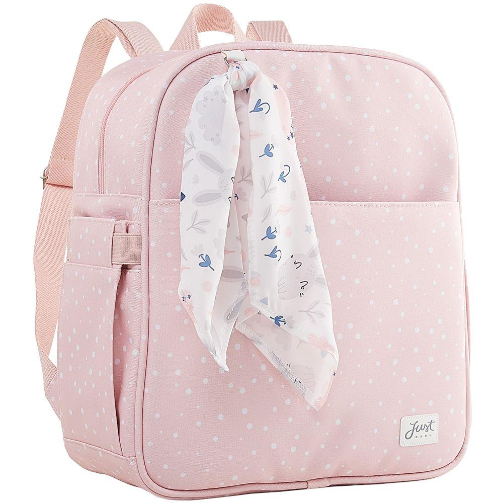 JBBNY325U2-A-Mochila-Maternidade-para-bebe-Bunny-Rosa---Just-Baby