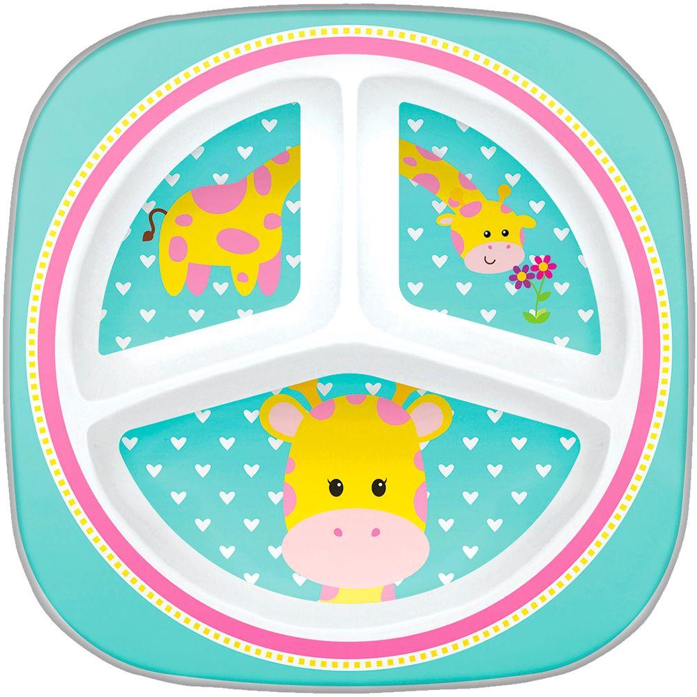 BUBA10704-A-Prato-com-Divisorias-para-bebe-Animal-Fun-Girafinha-6m---Buba