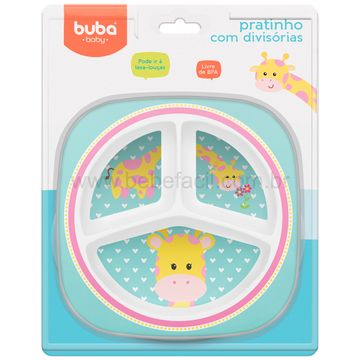 BUBA10704-C-Prato-com-Divisorias-para-bebe-Animal-Fun-Girafinha-6m---Buba