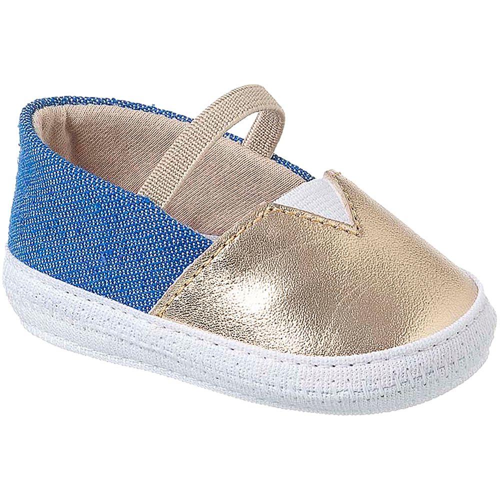 KB1174-81-A-Sapatilha-para-bebe-em-jeans-Dourado---Keto-Baby